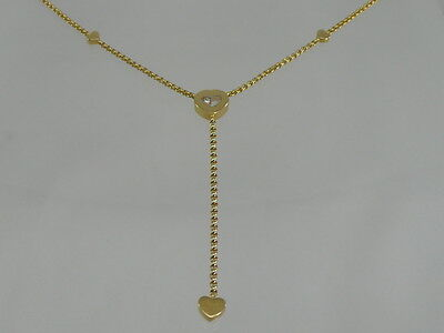 CHOPARD Happy Diamonds COLLIER KETTE mit ca. 0,05 Karat BRILLANT / 750 GOLD*