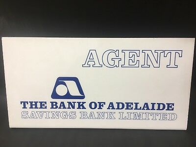 Bank Adelaide Counter Sign Plastic