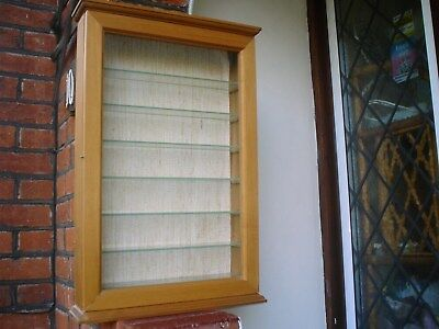 Quality Hand Made Wall Display Cabinet (V.g.c)