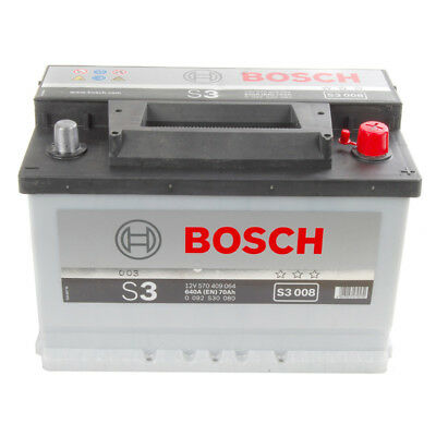 Type 640 Car Battery 680CCA Bosch 12V 102Ah 2 Years Wty Sealed OEM Replacement
