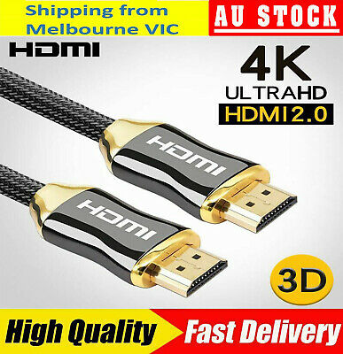 1M to 5M Premium HDMI Cable V2.0 3D 4K 2160p 1080p Ultra HD Braided High Speed