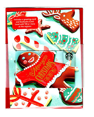 Starbucks Cards 2017  CHRISTMAS RARE MINT w/greeting card Red