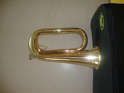 Rocking Offer! New Scout,army,cadet,militaria Funeral Taps Bugle+ Free Case+M/p