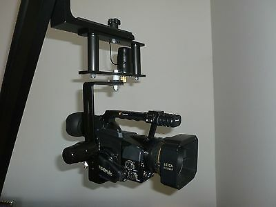 Motorized Pan/Tilt Head for Video Camera Crane Jib