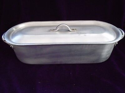 Vintage  Italian Aluminium Fish Kettle  Poacking Pan Small Size