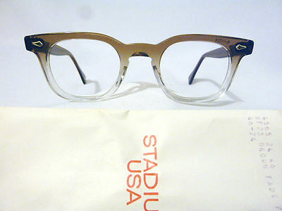 Vintage American Optical Hybrid Stadium Brown 46/24 Men's Plastic Eyeglass Frame