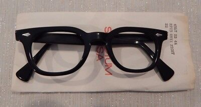 Vintage American Optical Hybrid Stadium Black 44/22 Men's Plastic Eyeglass Frame