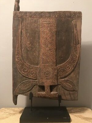 Antique Indonesian TORAJA door carved wood Buffalo, Tribal Art, Sulawesi islands