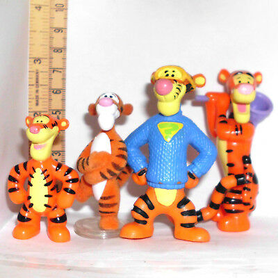 4x Disney Tigger Figur, Bully u.A. Winnie the Pooh Tiger, Pu der Baer top (FB14