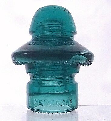 CD 196 HEMINGRAY No. 51 transposition insulator -  HEMINGRAY BLUE  (a1510)
