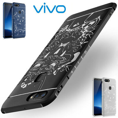 Unique Silicone Dragon Totem Soft Case Back Phone Cover For VIVO X20/X20 Plus