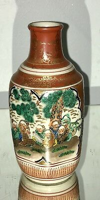 Lovely Artist Signed Antique Japanese Kutani Vase