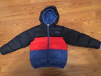 Pre Owned North Face Winter Bubble Jacket Boys Size Xs For 5 Yr Old Reversible!