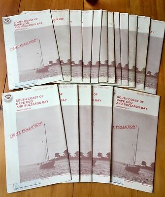 Lot of 17 NOAA Nautical Chart Maps South Coast of CapeCod and Buzzards Bay 13229