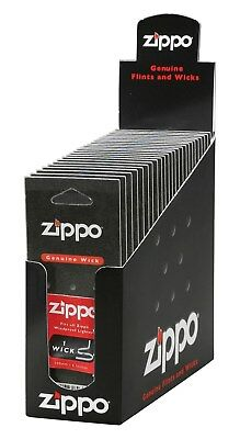 Zippo Wicks, Box of 24 Cards (One Wick per Card) - 2425