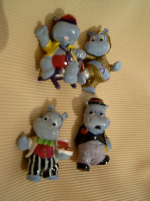 4 Hippos: Happy Hippo 1999; Arnie Action 1997; Charly Charming 1997; H-IPO 2002