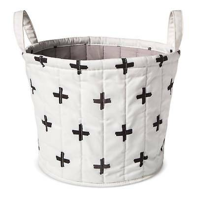 Baby Quilted Storage Bin - Black & White & Grey - New - Island of Clouds