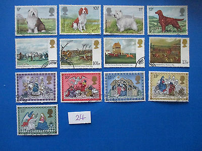 1979 GB Commemorative sets: Xmas, Dogs, Horseracing  - used, ex-fdc  #24