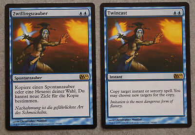 2x Twincast / Zwillingszauber, M10, rare, Magic the Gathering