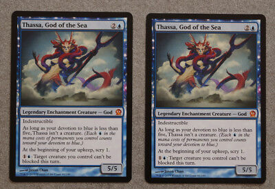 2x Thassa, God of the Sea, Theros, Mythic Rare, Magic the Gathering