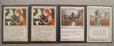 4xSwords to Plowshares/Schwerter zu Pflugscharen,div Edit,uncommon,Magic the Gat