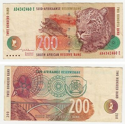 South Africa 200 Rands Banknote Reserve Bank Fine++ Paper Money !!!