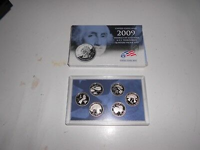 2009 S U.S. Mint Clad Quarter Proof Set + box & COA / original packaging