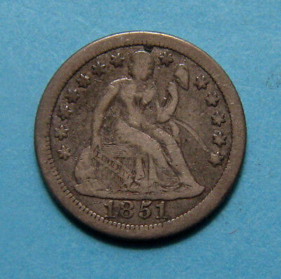 1851-O Seated Liberty Dime ✪ Low Mintage Only 400,000 ✪ AE1119