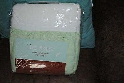 Tl Care Crib Size Bedskirt 100% Cotton Percale Nursery Green New In Package