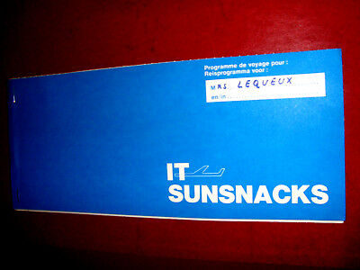 IT SUNSNACKS PASSENGER TICKET AND BAGGAGE CHECK. billet ancien
