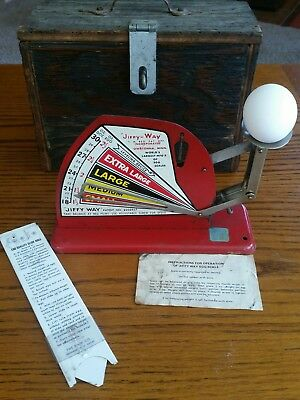 Vintage 1940 JIFFY WAY EGG SCALES for Chicken Farm Egg Grading + extras