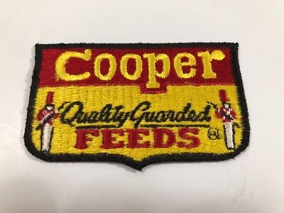 Cooper Quality Guarded Feeds Embroidered Sewing Patch Vintage 1980's Collectible