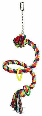 5164 Trixie Spiral Rope Perch - Small Parrot  Bird Toy For Cages Or Aviary