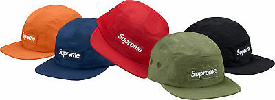 aae54046f07 NEW SUPREME WASHED Nylon Camp Cap FW17 Red Olive -  94.50
