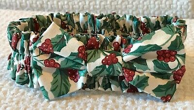 Longaberger Small Holly Fabric Bow Garter
