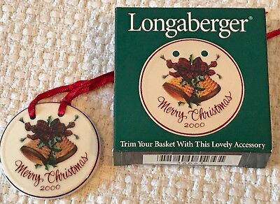 Longaberger Merry Christmas Basket Tie on
