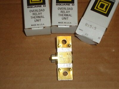 3X Square D Overload Heater B15.5 Lot of 3 New