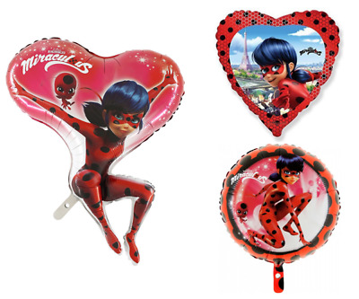 Miraculous Ladybug Foil Balloon Birthday Party Supplies Decoration
