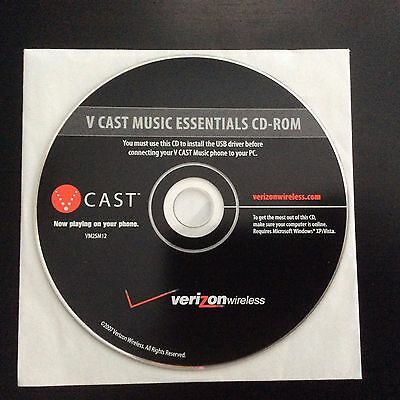Verizon Wireless LG CU915 CU920 U830 VCast V Cast Music CD Windows XP Vista