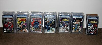 Complete (1984-1991) Transformers Marvel Comic Collection Issues #1-80 All Cgc