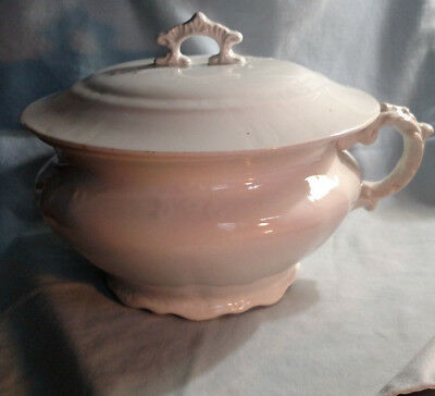 Dresden Pottery Chamber Pot - Whiteware Ironstone - Made in USA