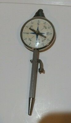 Vintage Map Measure Magnetic Compass miles to inches Made in Germany Opisometer