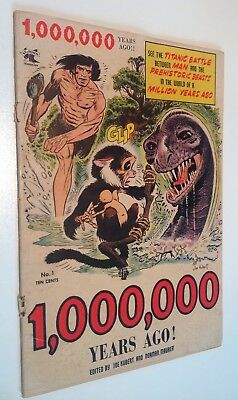One Million Years Ago BC #1 First Tor By Kubert 1953 Jurassic Park Cave Man