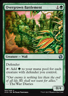 4x Overgrown Battlement - MTG Iconic Masters - NEW
