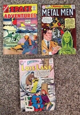 Lot of 3 comics Metal Men (DC, 177), Lois Lane (DC, 50), Space Adventures 56 VG