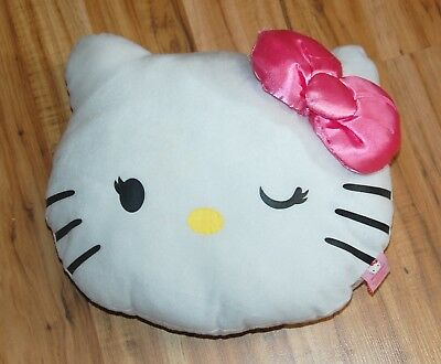 Adorable Large Hello Kitty Plush Throw Pillow with Zippered Pouch Pocket