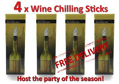 4 Wine chilling stick chill chiller NEW in Box Free FAST Postage FROM AUSTRALIA