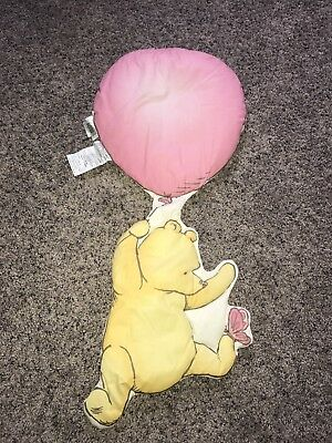 Classic Pooh Wall Hanging Balloon Butterfly Baby Nursery Crib Bedding 1995 Rare