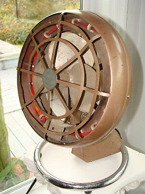 Vintage ARVIN Deco Space Heater Fan HOT & COLD Gold w Chrome Base WORKS GREAT!