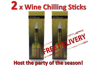2 Wine chilling stick chill chiller NEW in Box Free FAST Postage FROM AUSTRALIA